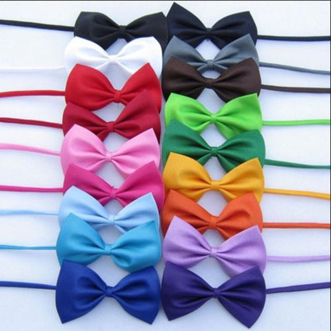 Image of Mix Colors Wholesale 1pcs Pet Grooming Accessories Rabbit Cat Dog Bow Tie Adjustable Bowtie Multicolor Polyester & Cotton