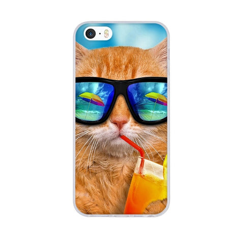 3D Pattern Cute Capa For iPhone 5S Case Silicon TPU