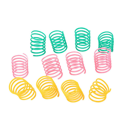 10Pcs Pet Wide Durable Heavy Gauge Plastic Colorful Springs Cat Toy Playing Toys for Kitten