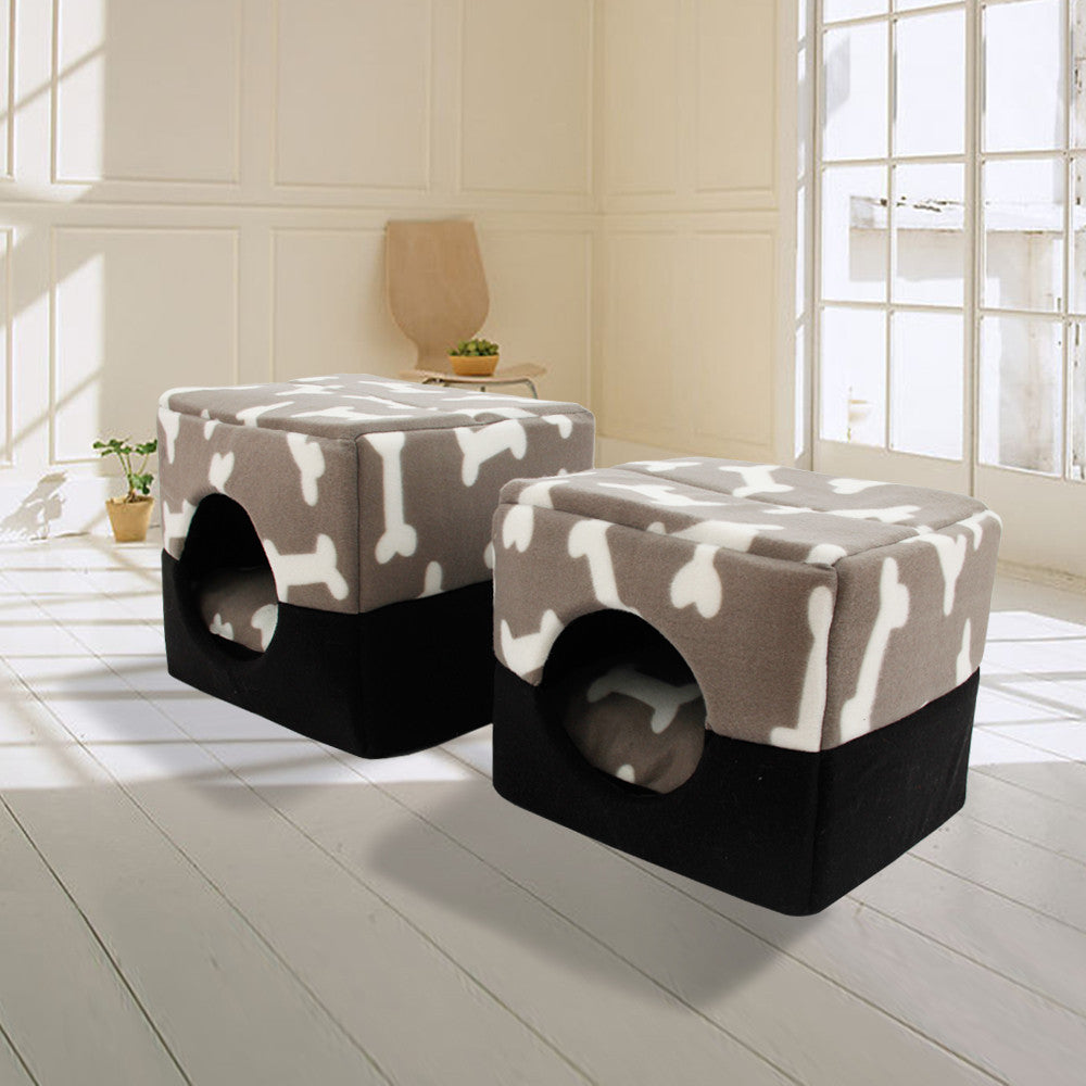 Bed For Dogs 100% Cotton Kennel Pet House Dog House