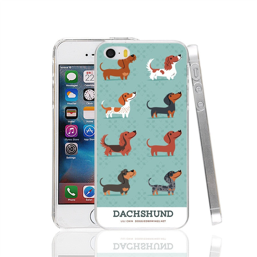 Dachshund dogs prints Cover cell phone Case for iPhone