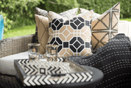 Bandhini - Design House Collection Outdoor Cushion Black & Beige Collection