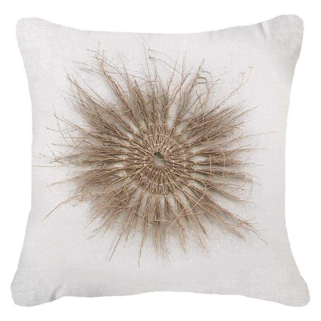 Bandhini - Design House Lounge Cushion 22 x 22 Wood Twigs White Lounge Cushion 55 x 55 cm