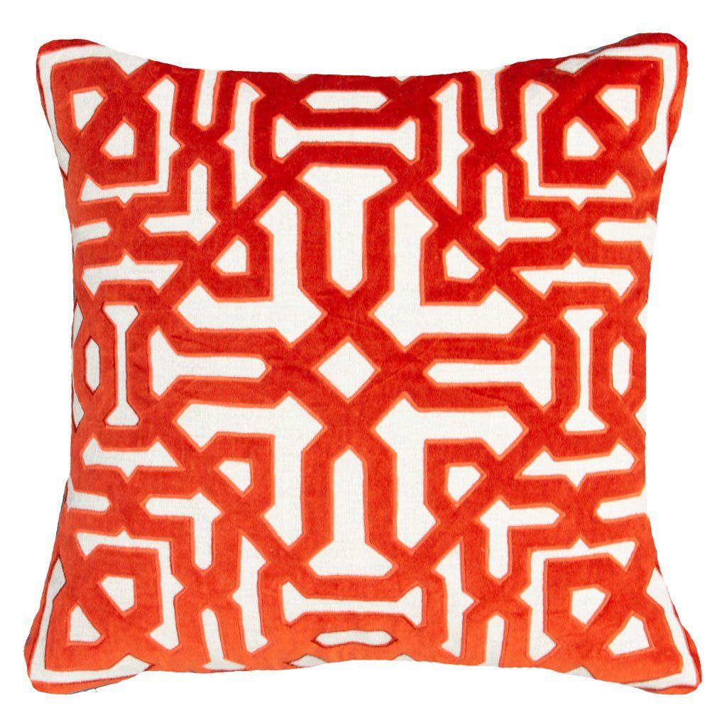 Bandhini - Design House Lounge Cushion Moroccan Screen Rust Cushion 55 x 55cm