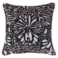 Bandhini - Design House Outdoor Black / Outdoor / 55x55 Outdoor Butterfly Black Lounge Cushion 55 x 55 cm