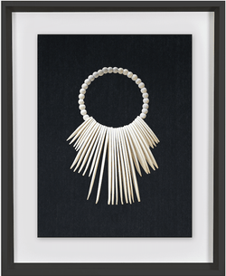 Bandhini Homewear Design Artwork Black / 26 x 33 Wooden Tribal Necklace White Artwork 67 x 85 cm
