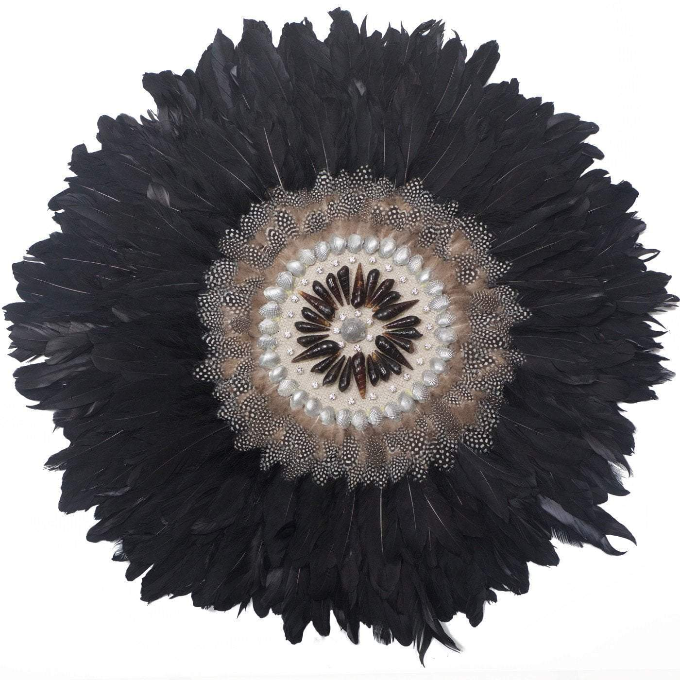 Feather Kubo Black Artwork 67cm x 85cm