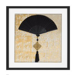 Bandhini Homewear Design Artwork Black / 52 x 52 Fan Tassel Black Artwork 52 x 52 cm