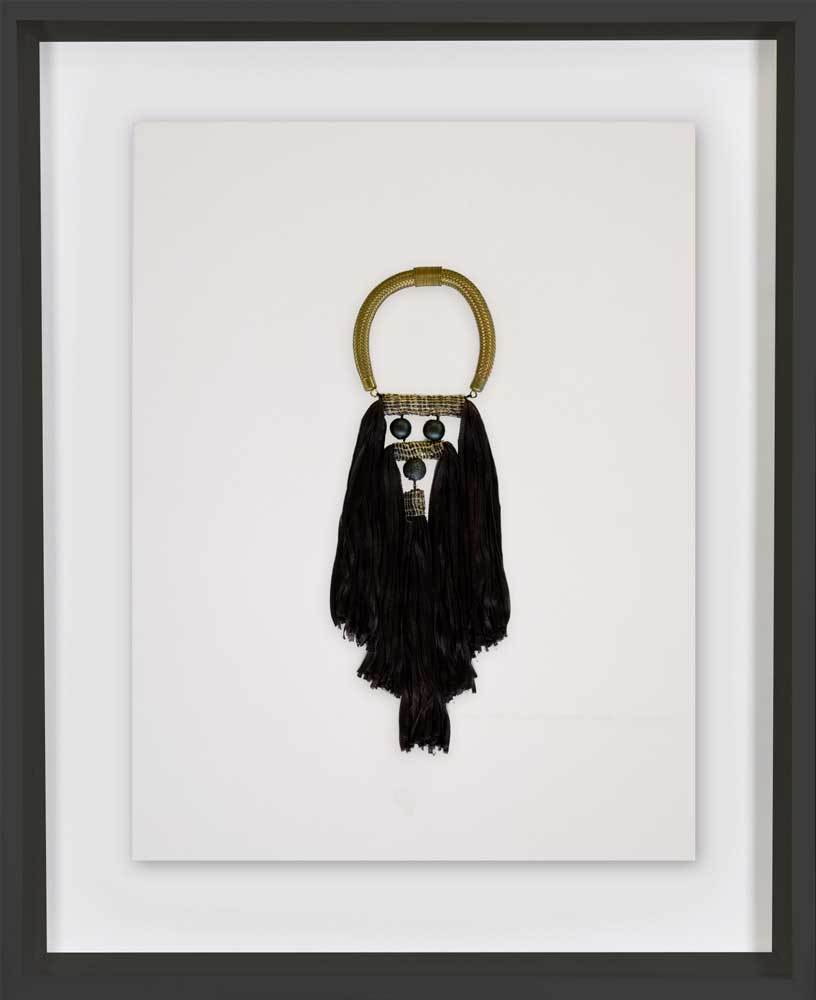 Bandhini Homewear Design Artwork Black / 52 x 52 Tassel Spanish Black Artwork 67cm x 85cm