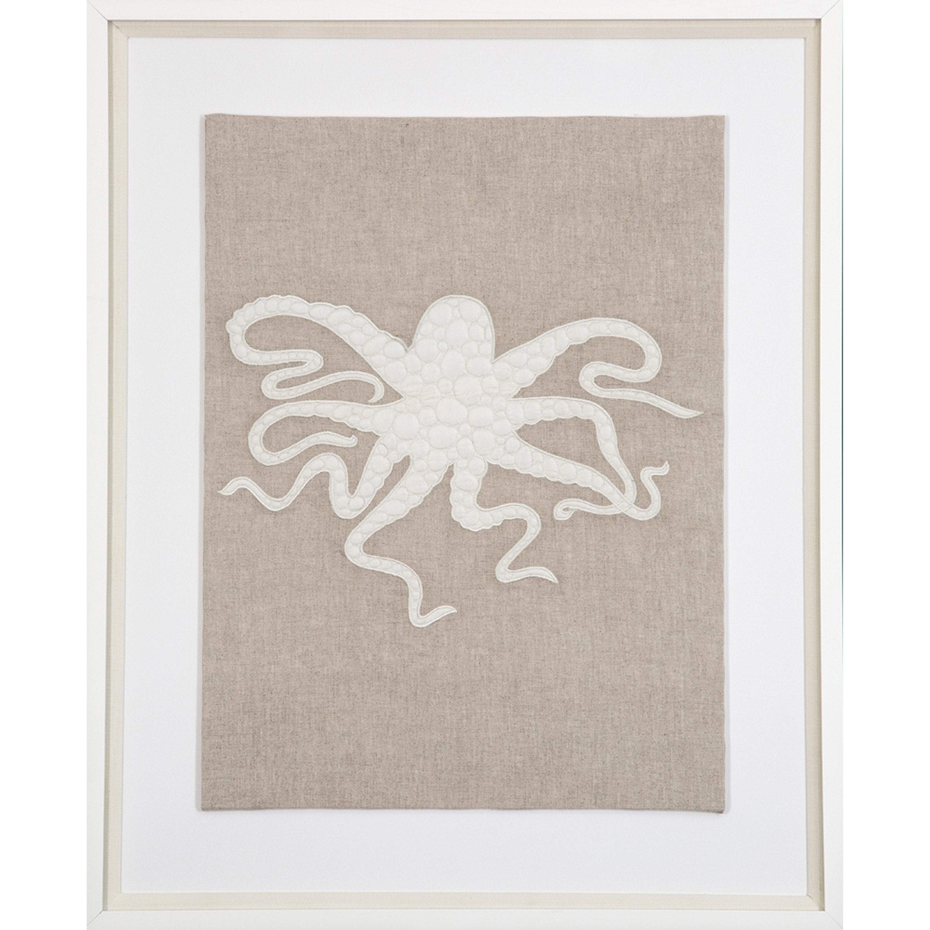 Bandhini Homewear Design Artwork Earth/ Beige / 26 x 33 Sea Octopus Natural Artwork 67 x 85 cm