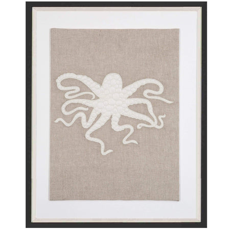 Bandhini Homewear Design Artwork Earth/ Beige / Surf Tribe / 26 x 33 Sea Octopus Natural Artwork 67 x 85 cm