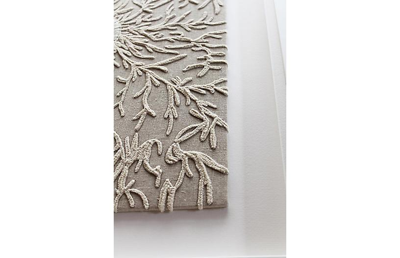 Bandhini Homewear Design Artwork Earth/ Beige / 26 x 33 Sea Spider Vine Natural Artwork 67 x 85 cm