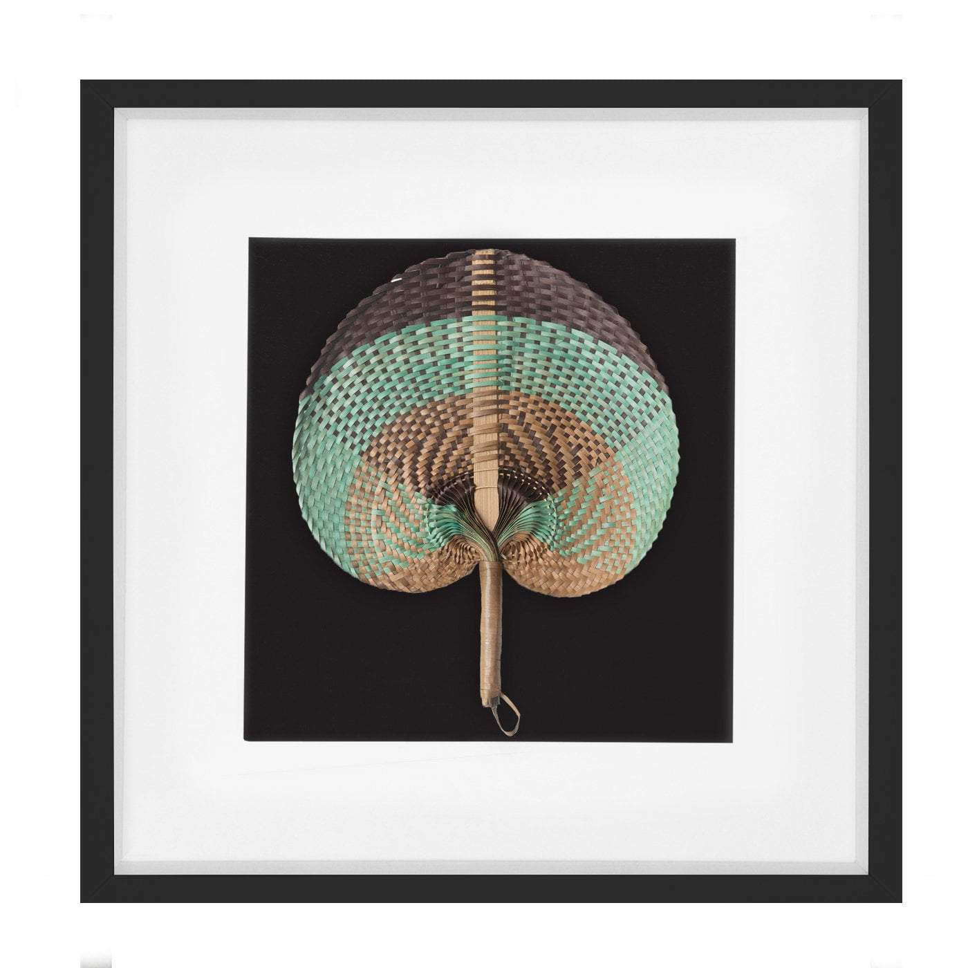 Bandhini Homewear Design Artwork Natural / Surf Tribe / 22 x 22 Fan Sage on Black 52x52cm