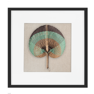 Bandhini Homewear Design Artwork Natural / Surf Tribe / 22 x 22 Fan Sage on Natural 52x52cm