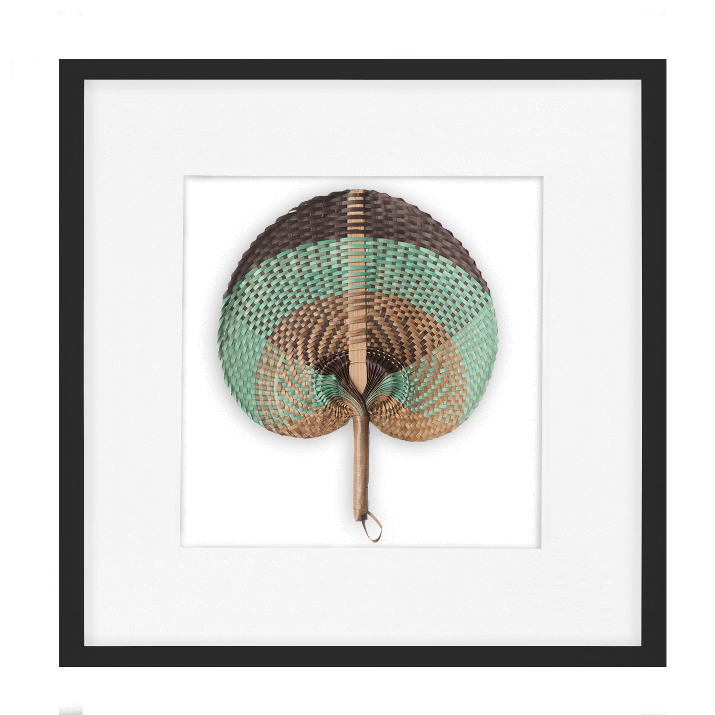 Bandhini Homewear Design Artwork Natural / Surf Tribe / 22 x 22 Fan Sage on White 52x52cm