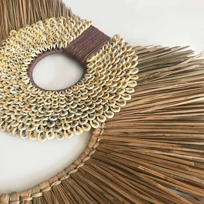 Bandhini Homewear Design Artwork Natural / 67 x 85 cm Shell Ring Coffee & Grass Mat Natural on Natural Artwork 67 x 85 cm