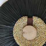 Bandhini Homewear Design Artwork Natural / 67 x 85 cm Wood, Shell Ring Coffee & Grass Mat Black on Natural Artwork 67 x 85 cm