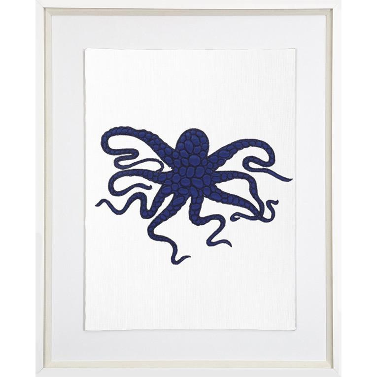 Bandhini Homewear Design Artwork Navy / 26 x 33 Sea Octopus Navy Artwork 69 x 85 cm