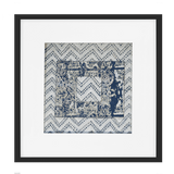 Bandhini Homewear Design Artwork Navy / Primitive / 52 x 52 Ruins Zig Box Navy Artwork 52 x 52 cm
