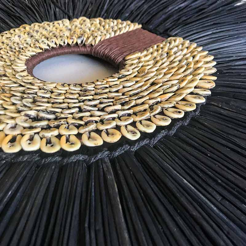 Bandhini Homewear Design Artwork Navy / 67 x 85 cm Coffee Shell Ring & Grass Mat Black on White Artwork 67 x 85 cm