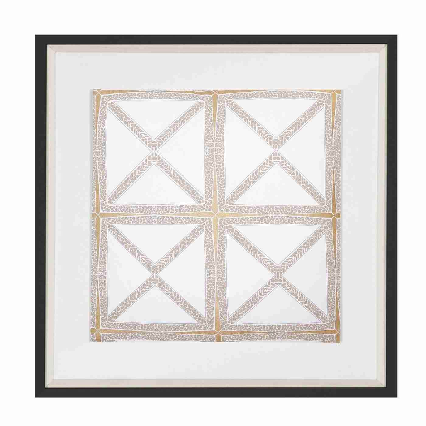 Bandhini Homewear Design Artwork White / Exotic Light / 22 x 22 Mosaic White Artwork 52x52cm