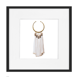 Bandhini Homewear Design Artwork White / 52 x 52 Tassel Amulet White Artwork 52 x 52 cm