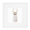 Bandhini Homewear Design Artwork White / Primitive / 52 x 52 Tassel Amulet White Artwork 52 x 52 cm