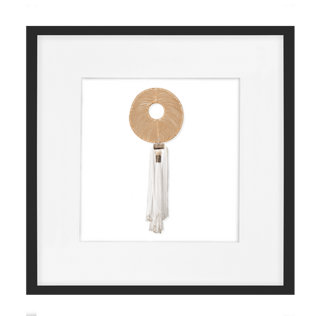 Bandhini Homewear Design Artwork White / Primitive / 52 x 52 Tassel Disc Gold White Artwork 52 x 52 cm