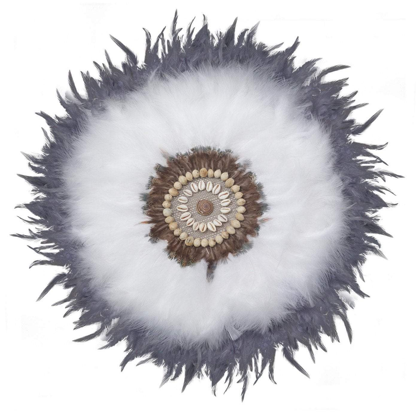 Feather Latope White Artwork 67cm x 85cm