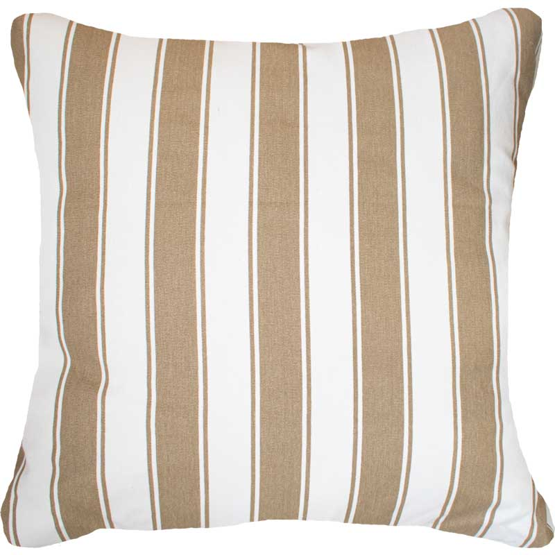 Bandhini Homewear Design Euro Cushion Natural White / 25 x 25 Ticking Stripe Rye Euro Cushion 65 x 65cm