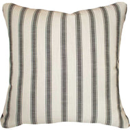 Bandhini Homewear Design Euro Cushion Ticking Stripe York Black Euro Cushion 65 x 65cm