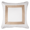 Bandhini Homewear Design Euro Cushion White / 65 x 65 Braid Gold White Euro Cushion 65 x 65 xm