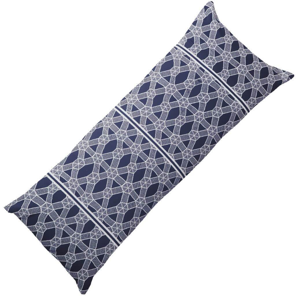 Bandhini Homewear Design Long Lumber Cushion Black / Naval Sea / 14 x 36 Kamari Navy Long Lumber Cushion 35 x 90 cm