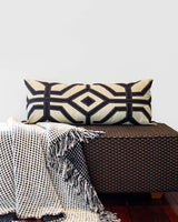 Bandhini Homewear Design Long Lumber Cushion Black Beige Earth / 14 x 36 Moko Black Long Lumber Cushion 35 x 90 cm