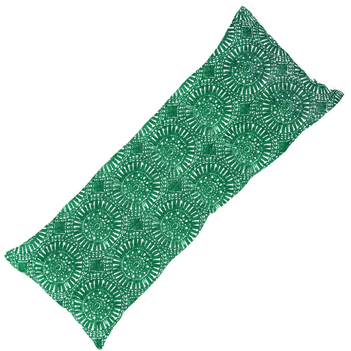 Bandhini Homewear Design Long Lumber Cushion Emerald / 14 x 36 Sphere Print Emerald Long Lumber Cushion 35 x 90 cm