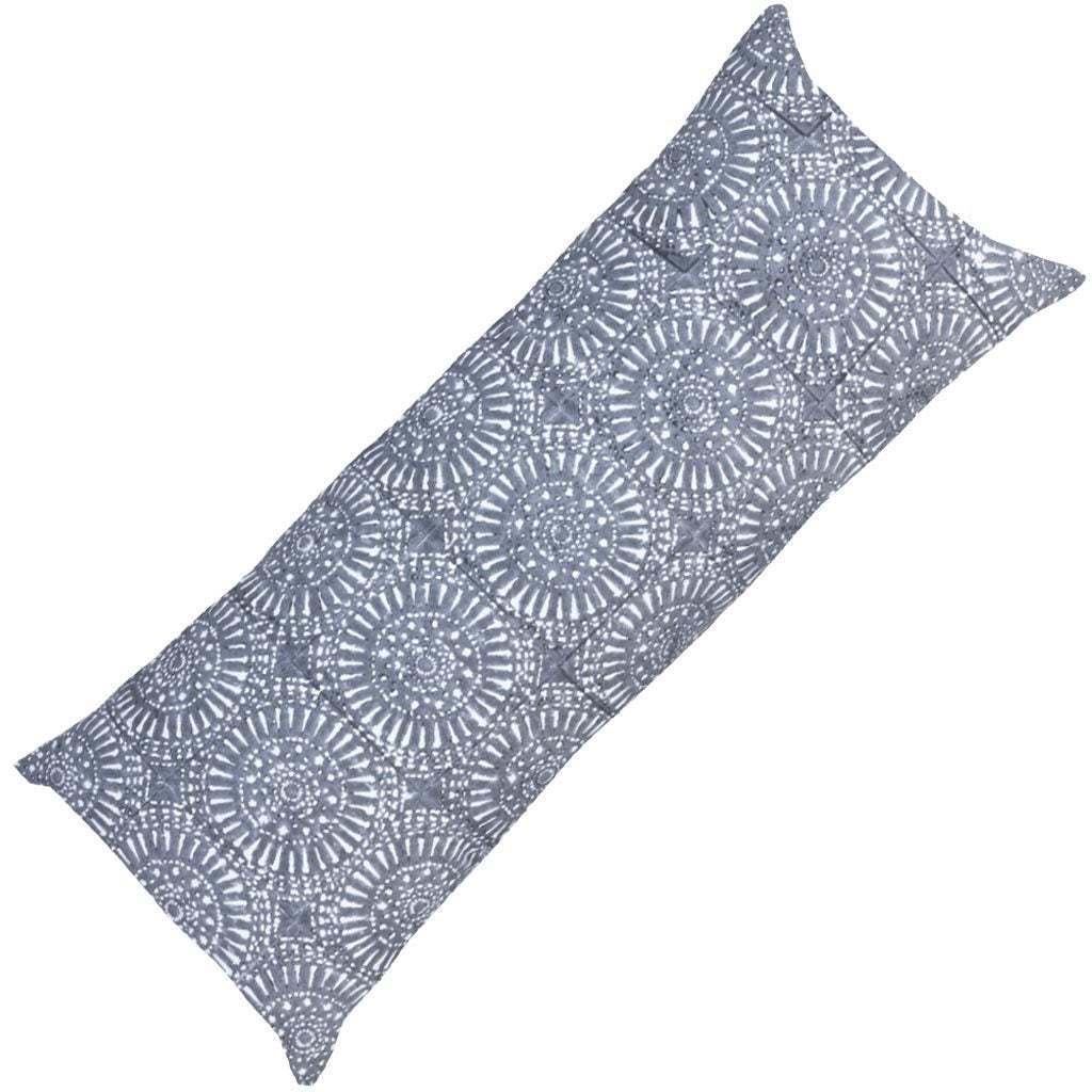 Bandhini Homewear Design Long Lumber Cushion Grey / 14 x 36 Sphere Print Grey Long Lumber Cushion 35 x 90 cm