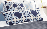 Bandhini Homewear Design Long Lumber Cushion Navy / Naval Sea / 14 x 36 Intertwined Navy Long Lumber Cushion 35 x 90 cm