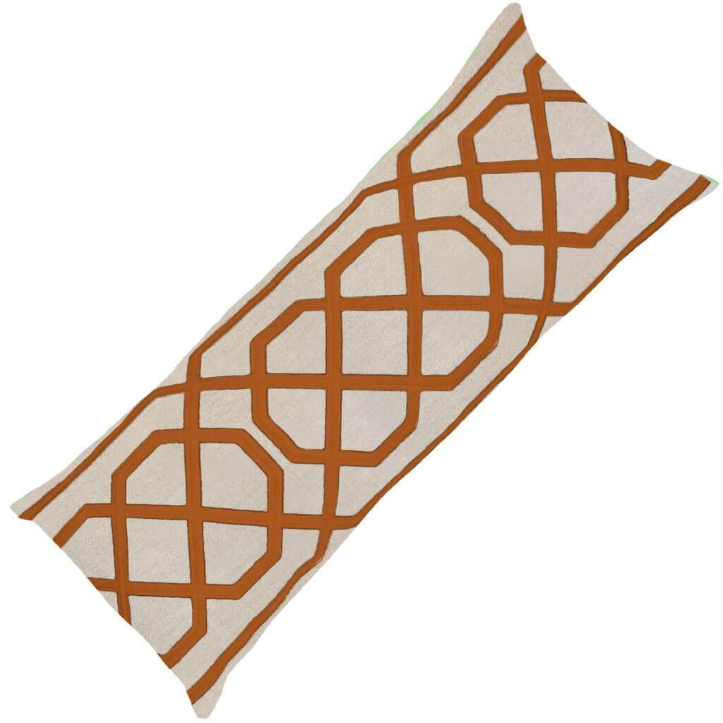 Bandhini Homewear Design Long Lumber Cushion Orange / Aztec Fire / 14 x 36 Jagger Orange Long Lumber Cushion 35 x 90 cm
