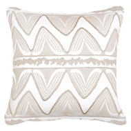 Bandhini Homewear Design Lounge Cushion Beige / Surf Tribe / 22 x 22 Ikat Ruby Natural Lounge Cushion 55x55cm