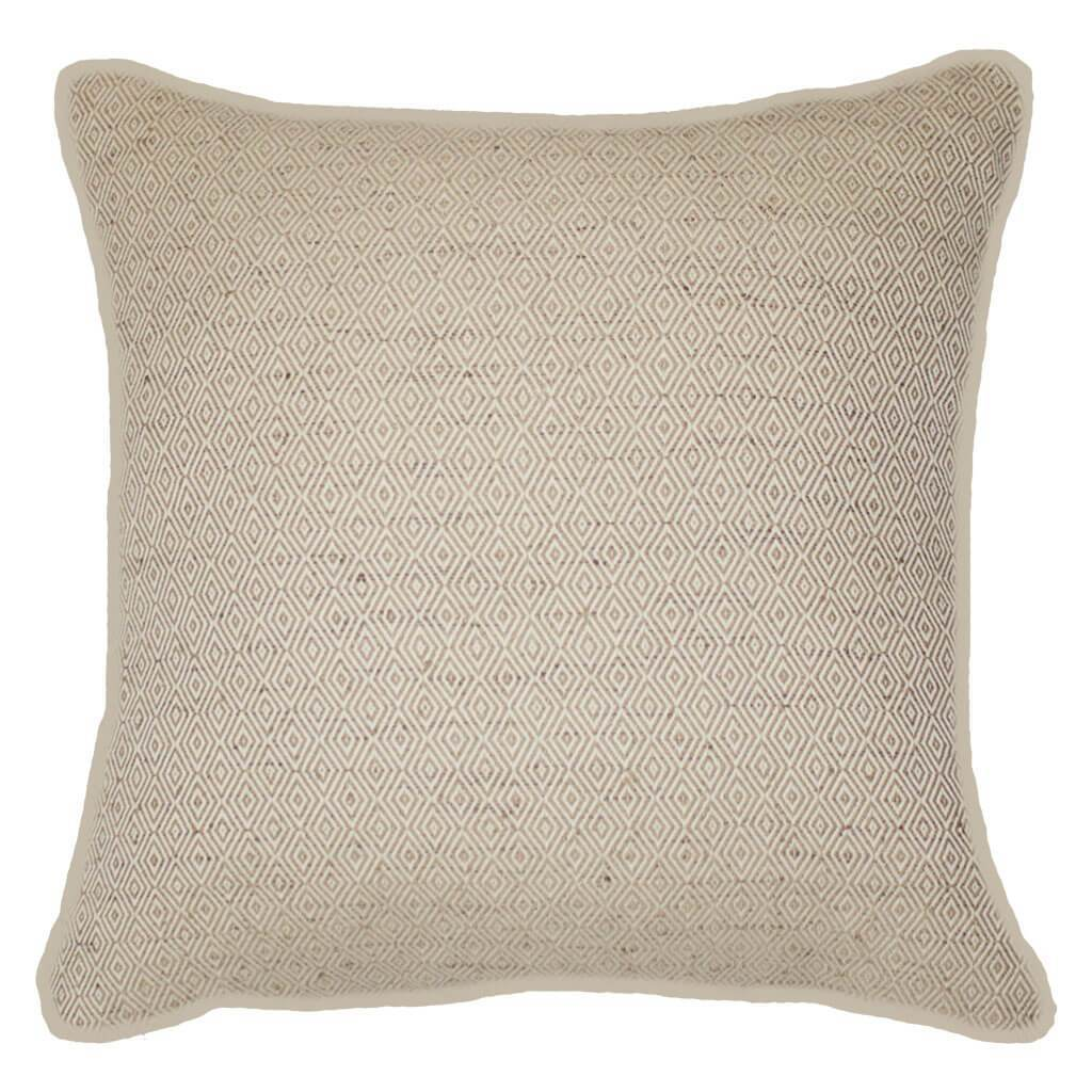 Bandhini Homewear Design Lounge Cushion Beige / Surf Tribe / 22 x 22 Weave Diamond Natural Lounge Cushion 55x55cm