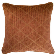 Bandhini Homewear Design Lounge Cushion Beige / 22 x 22 Weave Phulkari Rust Lounge Cushion 55 x 55 cm