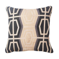 Bandhini Homewear Design Lounge Cushion Black / Primitive / 18 x 18 Outdoor Ratan Black Medium Cushion 50 x 50 cm