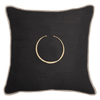 Bandhini Homewear Design Lounge Cushion Black / Exotic Dark / 22 x 22 Amulet Black Lounge Cushion 55x55cm