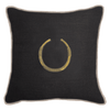 Bandhini Homewear Design Lounge Cushion Black / Exotic Dark / 22 x 22 Amulet Delhi Black Lounge Cushion 55x55cm