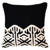 Bandhini Homewear Design Lounge Cushion Black / 22 x 22 Arrow Applique Edge Black Lounge Cushion 55 x 55 cm