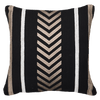 Bandhini Homewear Design Lounge Cushion Black / Exotic Dark / 22 x 22 Arrow Stripe Black Lounge Cushion 55 x 55 cm