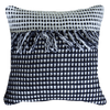Bandhini Homewear Design Lounge Cushion Black / Primitive / 22 x 22 Check Black White Lounge Cushion 55 x 55 cm