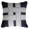 Bandhini Homewear Design Lounge Cushion Black / Primitive / 22 x 22 Cross Sash Black Lounge Cushion 55 x 55 cm