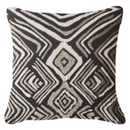 Bandhini Homewear Design Lounge Cushion Black / Exotic Dark / 22 x 22 Ikat Zebra Black Lounge Cushion 55 x 55 cm