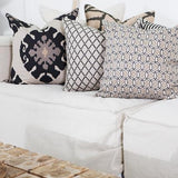 Bandhini Homewear Design Lounge Cushion Black / 22 x 22 Intermeshed Black Lounge Cushion 55 x 55 cm